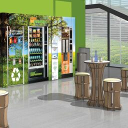 Eco-sustainable break area with mains water