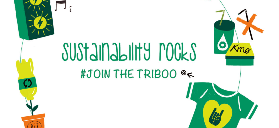 "We approve and enforce the event ""sustainability rocks"""
